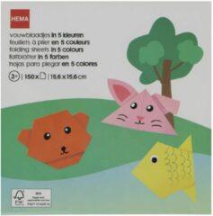 HEMA Vouwblaadjes 5 Kleuren - 150 Stuks