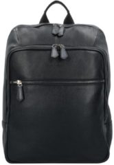 Citta Business Rucksack Leder 41 cm Laptopfach Bugatti black
