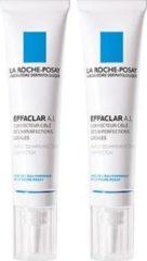 La Roche-Posay Effaclar A.I. Lokale Crème - 2 x 15 ml - Zuivert Puistjes