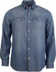 Kariban Heren Lange Mouw Casual Denim Shirt (Blauwe Jean)