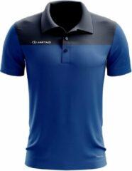 Jartazi Polo Bari Heren Polyester Blauw/zwart Maat Xxl