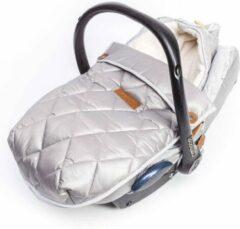 Baby Anne-Cy voetenzak met autostoelhoes nylon grijs