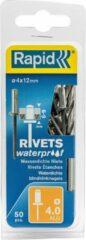 Rapid 5000400 Waterdichte Blindklinknagels incl. boor - Aluminium - 4x12mm (50st)