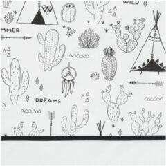 Bink Bedding Indiana Ledikantlaken Zwart / Wit 100 x 150 cm