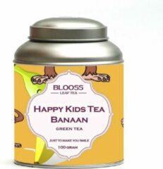 BLOOSS coffee Happy Kids Tea - Banaan | groene thee | losse thee | 100g | in theeblik