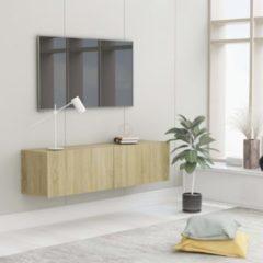 Bruine VidaXL Tv-meubel 120x30x30 cm spaanplaat sonoma eikenkleurig