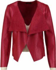 Only soepel openvallend rood leerlook jasje - Maat XS