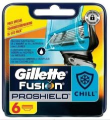Gillette Fusion Proshield Chill Scheermesjes - 6 Navulmesjes