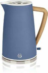 Swan Nordic Retro Waterkoker – 1,7 Liter Inhoud – Blauw