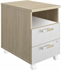 Gamillo Furniture Ladeblok Artefact 2 van 62 cm hoog in eiken met wit