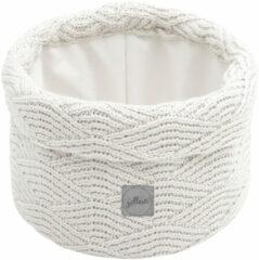 Witte Jollein opbergmand River knit cream white 14xØ18