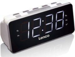 Lenco FM Uhrenradio mit USB Ladefunktion »CR-19WH«