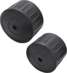 Zwarte Traxis Hengeldop - 17mm - 2 stuks