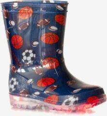 Blauwe Scapino Kinder regenlaarzen homerun met lichtjes Jongens Regenlaarzen Maat 30