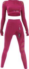 Bordeauxrode Legend Sports Legend Sport Outfit Dames - Sport Top & Sport Legging High Waist Raspberry M