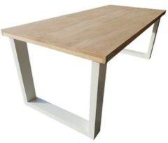 Wood4you - Eettafel New England Eikenhout - Wit