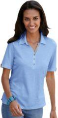 Blauwe Casual Looks poloshirt met contrastdetails