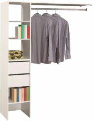 Young Furniture Open kledingkast Duo 187 cm hoog - Wit