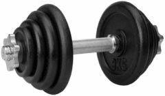 Zilveren Avento Halter Verstelbaar Staal - 15 kg - Zwart