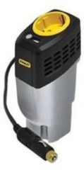 STANLEY omvormer - 12-230V, 100W - stopcontact - USB-poort