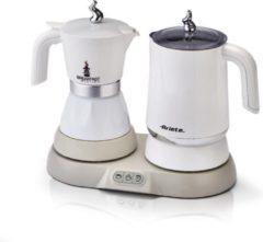 ARIETE 1344 Italiaans koffiezetapparaat met melkopschuimer - 20cl - 500W - Wit