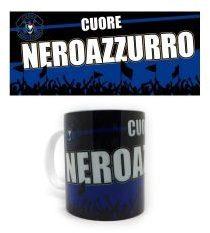 Sinsin Xmont Tazza in Ceramica 10 cm Cuore Nero Azzurro
