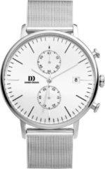 Zilveren Danish Design watches edelstalen herenhorloge Koltur Chrono Silver Mesh IQ62Q975