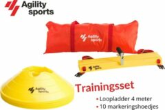 Trainingsset Agility Sports | Loopladder | trainingsladder | Speedladder | Pionnenset | Geel |