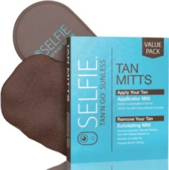 Bruine Selfie Tan'n Go Aanbreng Applicator & Exfoliating Mitt 2 pcs.