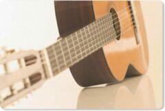 MousePadParadise Muismat Akoestische gitaar - Een Akoestische gitaar ligt op de zij muismat rubber - 27x18 cm - Muismat met foto