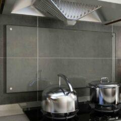 VidaXL Spatscherm keuken 100x50 cm gehard glas transparant