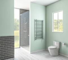 Eastbrook Biava chroom rond badkamer verwarming 600 x 400mm (afgebeeld is de 1200 x 600mm)