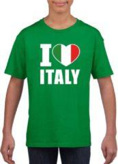 Shoppartners Groen I love Italy supporter shirt kinderen - Italie shirt jongens en meisjes XL (158-164)