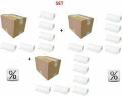 Witte HygieneShopBasics Super voordeel! 3x6 papierrollen voor de baby verschoontafel of commode