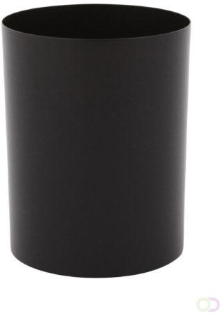 Afbeelding van Stalen papierbak 13 ltr zwart