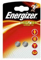 2 Stuk (1 Blister a 2st) Energizer G10 / LR54 / 189 / AG10 1.5V Alkaline knoopcel batterij