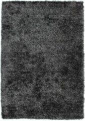 Antraciet-grijze Diamond Soft Rond Vloerkleed Antraciet Hoogpolig - 80x150 CM