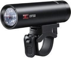 Zwarte Ravemen CR700 USB oplaadbaar DuaLens koplamp met afstandsbediening - 700Lu