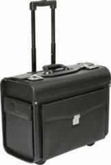 Zwarte Tassia Pilotenkoffer Trolley - Laptoptas - Dokterstas - Handbagage (PL1630)