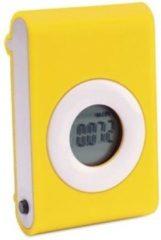 Merkloos / Sans marque Stappenteller geel met riem clip