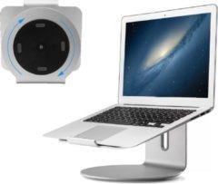 Zilveren Go2Goshop Laptop Standaard - Laptop standaard universele - 7 tot 18 inch - 360 graden draaien - Portable Houder voor Macbook -Laptop - Stand voor op Tafel - Bureau