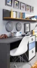Schreibtisch mit Wandboard grau/weiss FORTE MÖBEL Colors