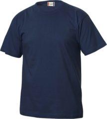 Marineblauwe Basic-T Clique Basic T-shirt-580-L