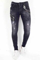 Local Fanatic Exclusive Slim Fit Jeans Stretch Heren - 1007- Zwart - Maten: 36