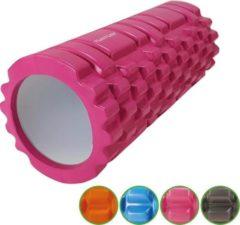 Tunturi Yoga Grid Foam Roller - Foam roller the grid - Foamroller - Fitness Roller - 33cm - Roze