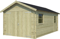 Outdoor Life Products Outdoor Life | Garage Dillon | Groen geïmpregneerd | 560x320 cm