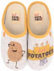 Hot Potatoes HP 57057 grijs geel pantoffels meisjes (HP 57057)
