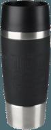 Zwarte Tefal Travel Mug K30811 Reisbeker / Thermosbeker - 0.36 l - RVS/zwart