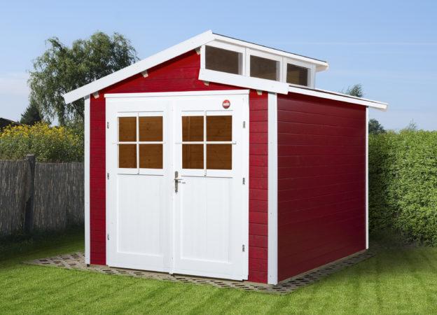 Afbeelding van Rode WEKA | Tuinhuis 226 | 235 x 239 cm | Zweeds rood