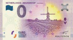 Paarse 0 Euro Biljet 2019 - Keukenhof Tulip Fields